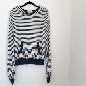 Wildfox Striped Jumper with hood and pocket